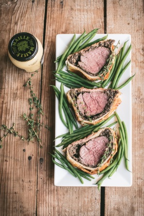 beef wellington on a plate