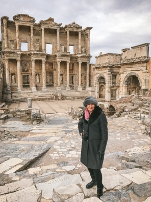 Me by the The Celsus Library in Ephesus, near Izmir