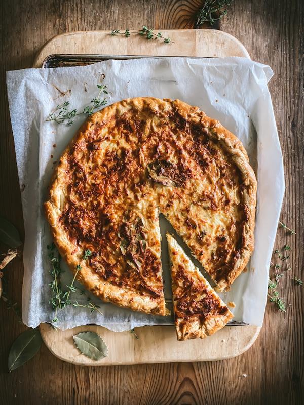 Leek and thyme tart
